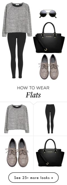 """""""Untitled #319"""" by christinaallayi on Polyvore featuring MICHAEL Michael Kors, Topshop, MANGO, women's clothing, women's fashion, women, female, woman, misses and juniors"""