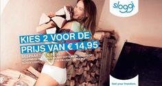 We hebben weer een nieuwe aanbieding voor u. Tot en met 30 september is er de Sloggi light actie! Ga direct naar https://www.underfashion.nl/dames-ondergoed en profiteer hiervan!