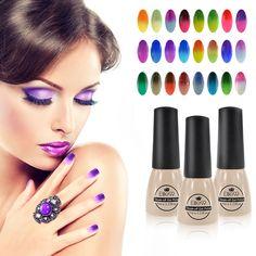 Elite99 Nail Gel Polish langdurige UV Gel losweken LED UV 7 mlTemperature Kleur Veranderende Nail Gel