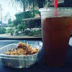 Much needed pick me up for the start to this beautiful rainy day #starttomyday #dayinthelifeofmyTea #IcedTea #VeggieQuiche #yummy #working #fun