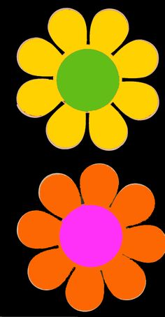 Flower Power. Had tons of these stickers, and a keyring!