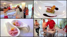 Miami Beach Cafe & Restaurant - Amuse Bouche & Strawberry Ice Cream