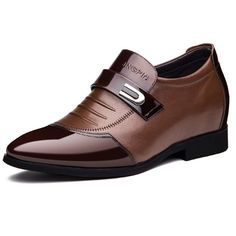 Mature shoes with heels for men big and tall 7cm / 2.75inch