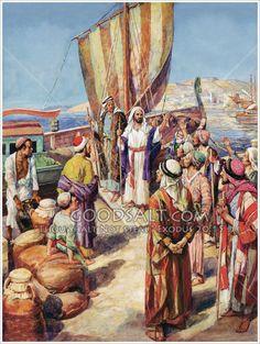 Paul and Barnabas Boarding Boat at Seleucia
