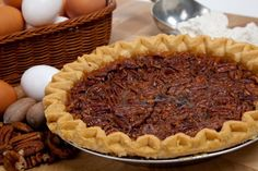 Dessert Recipe: Maple Pecan Pie (I would use all butter or substitute coconut oil for the shortening)