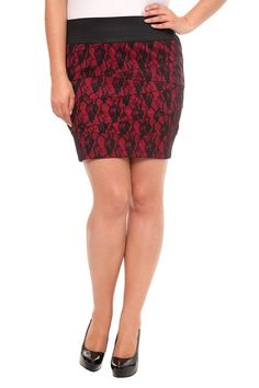 Persian Red and Black Lace Bandage Mini from Torrid $38.50