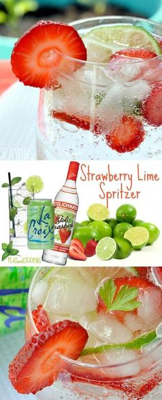 Skinny Strawberry Lime Spritzer - my favorite Spring drink!