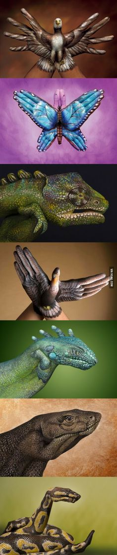 "Mind-blowing ""hand art"""