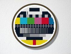 Cross stitch Pattern PDF TV Test Screen