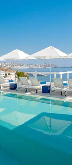 Grace Hotel Pool ~ on the Greek island of Mykonos