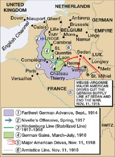 Map of the western front showing ww1 battlefield locations in map world war 1 gumiabroncs Images