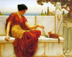 John William Godward ~ The Tease