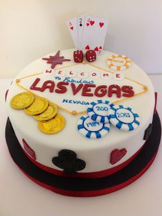 Vegas Birthday Cake Gambling Chips Cards Las Britney To See More