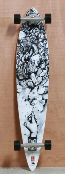 """Arbor 46"""" Timeless Pin Bamboo Longboard Complete"""