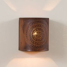 Chisel Punched Tin Sconce - Two Finishes