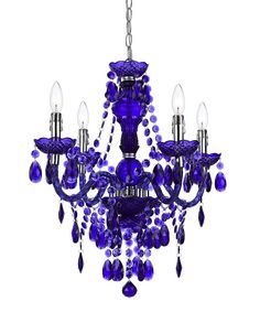 Dark Purple Naples Four-Bulb Chandelier   zulily