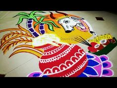 Easy Rangoli Designs Videos, Easy Rangoli Designs Diwali, Rangoli Designs Latest, Rangoli Designs Flower, Free Hand Rangoli Design, Rangoli Border Designs, Small Rangoli Design, Rangoli Patterns, Rangoli Ideas