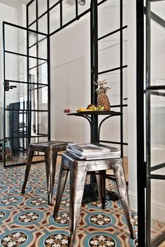 verriere d'interieur pour une maison contemporaine, verriere loft