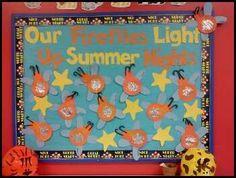 firefly classroom theme   Preschool Summer Firefly Bulletin Board Idea
