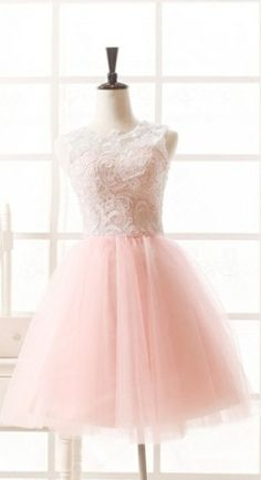 Pink lace and tulle Bridesmaid dress  For Ballet themed wedding