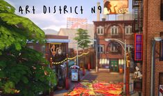 SimFindLove — ichosim: Ichosim's Art District (sfs) Lotes The Sims 4, Sims Cc, Sims Building, Building Ideas, Sims 4 House Plans, Sims House Design, Sims 4 Build, Flower Stands, Sims Community