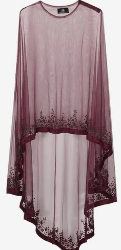 Wine floral beads embroidered cape available only at Pernia's Pop Up Shop. Abaya Fashion, Indian Fashion, Fashion Dresses, Womens Fashion, Mode Abaya, Mode Hijab, Latest Designer Sarees, Designer Dresses, Pakistani Dresses