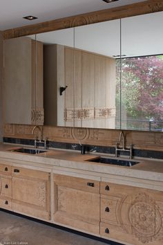 Striking bathroom cabinetry #bespoke #designer #storage #interiordesign #storageideas