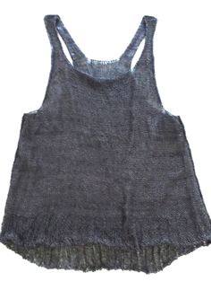 Charcoal Inside/Out Tank  Hand Knit Art to Wear by caramay on Etsy, $160.00