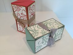 Chest opening gift box - video tutorial using falling flowers by Stampin' Up