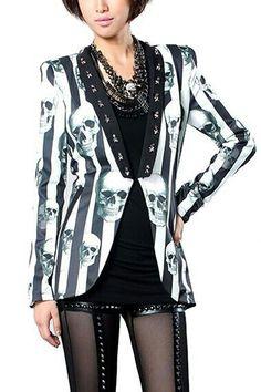Skull print blazer jacket... oh my lord... amazing