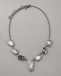 Y0ZF2 Alexis Bittar Multi-Stone Necklace