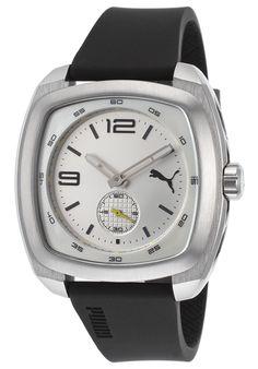 Puma Men's Black Rubber Silver-Tone Dial Rectangle Case - Watch PU103081002,    #Puma,    #PU103081002,    #WatchesSportQuartz
