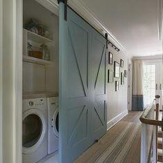 Brooks & Falotico -barn doors covering laundry
