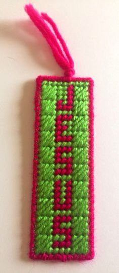 Plastic Canvas Jesus Bookmark with Tassel by stitchesoflight