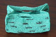 Crochet basket from plastic bags (Docinho da Prelada)
