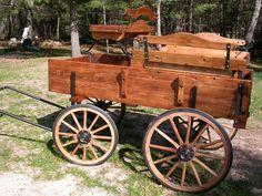 Buckboard Horse Drawn Cart Donkey Wagon Pony Buggy | eBay