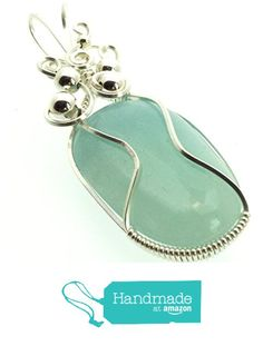 Aquamarine Gemstone Sterling Silver Wire Wrapped Pendant from Angelleesa Designs https://www.amazon.co.uk/dp/B01KO3UQ5G/ref=hnd_sw_r_pi_dp_3dM7xbV6XK589 #handmadeatamazon