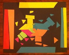 A cool and colorful pattern collage made by Max, 7 years old • Art My Kid Made #kidart