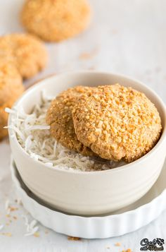Indian style crispy and eggless Coconut Cookies are perfect to be enjoyed with a…