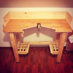 Ikea kitchen island > DIY Jeweler's Bench Peculiar Forest: New bench, new work..