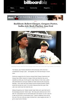 Billboard: Hugh Hefner and George Lopez talk music at the Playboy Jazz Festival (June 15, 2013)  Click to read more.