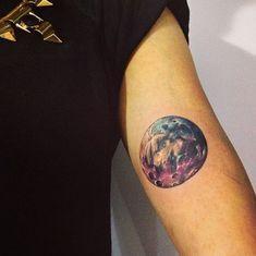 galaxy tattoo on arm