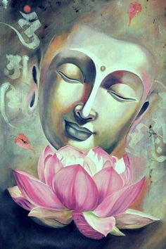Buy Vipasana artwork number a famous painting by an Indian Artist Arti Naahar. Indian Art Ideas offer contemporary and modern art at reasonable price. Budha Painting, Lotus Painting, Painting Art, Peace Painting, Painting Flowers, Painting Frames, Indian Art Paintings, Nature Paintings, Beautiful Paintings