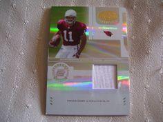 2004 Donruss Rookie Certified Material Card from Larry Fitzgerald.  Serial #'D. #ArizonaCardinals