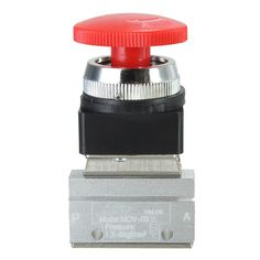 1PCS 2 Way 2 Position Pneumatic Mechanical Valve 1/8 Inch Thread Push-button Switch Valve Best Price #Affiliate