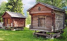 Granary of dead and grain granary. Kannus, Central Ostrobothnia province of Western Finland - Keski-Pohjanmaa