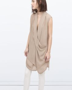 Image 2 of DRAPED TOP from Zara