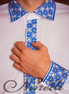 """Сорочка вишивана """"жовто-блакитна"""""""