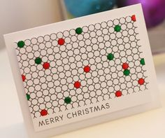 Merry Dots DIY Christmas Card | A clean and simple DIY Christmas card to make this year.