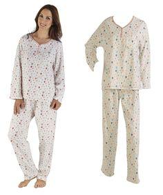 10d22c5cc6 Ladies Slenderella Balloon Print Microfleece Pyjamas (Various Sizes) - Mill  Outlets Fleece Pajamas